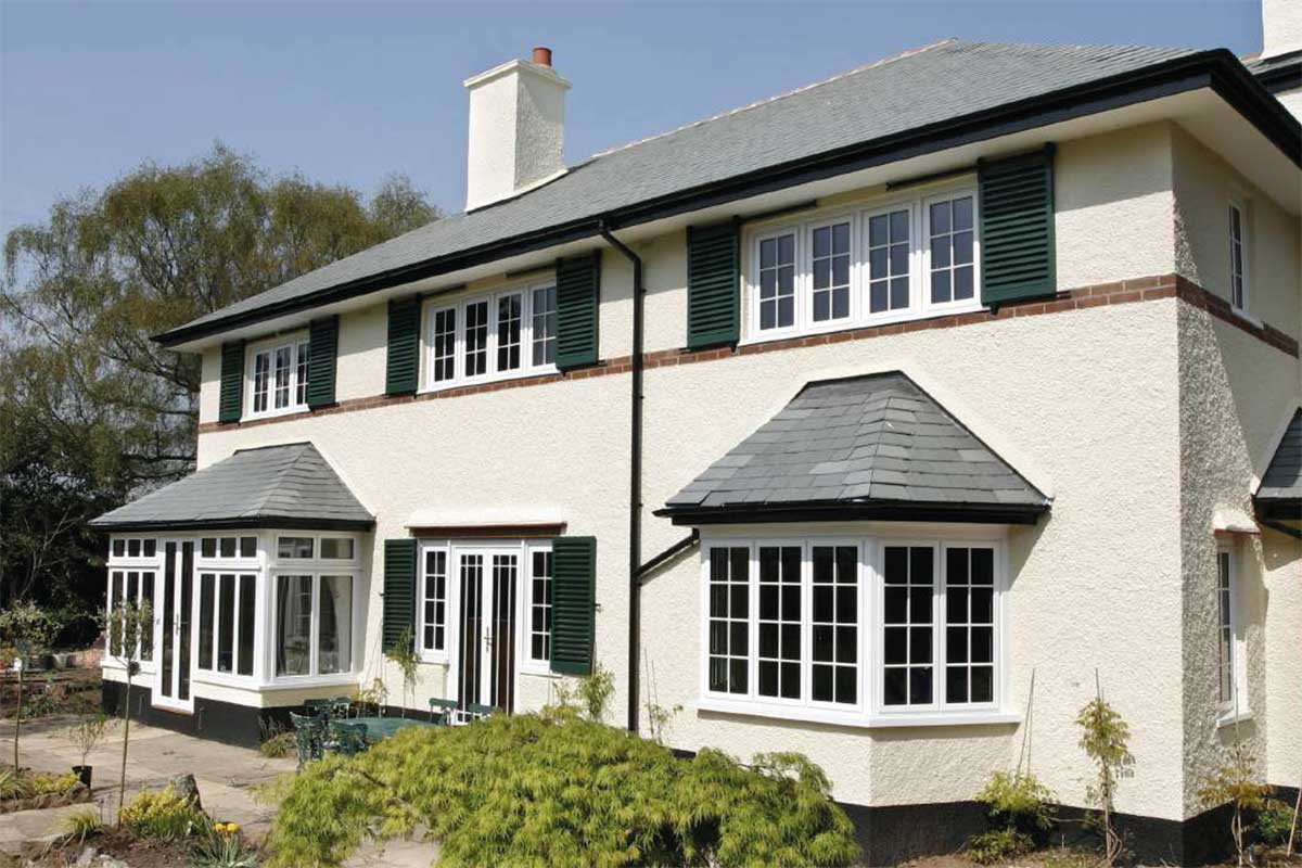 aluminium windows for a house