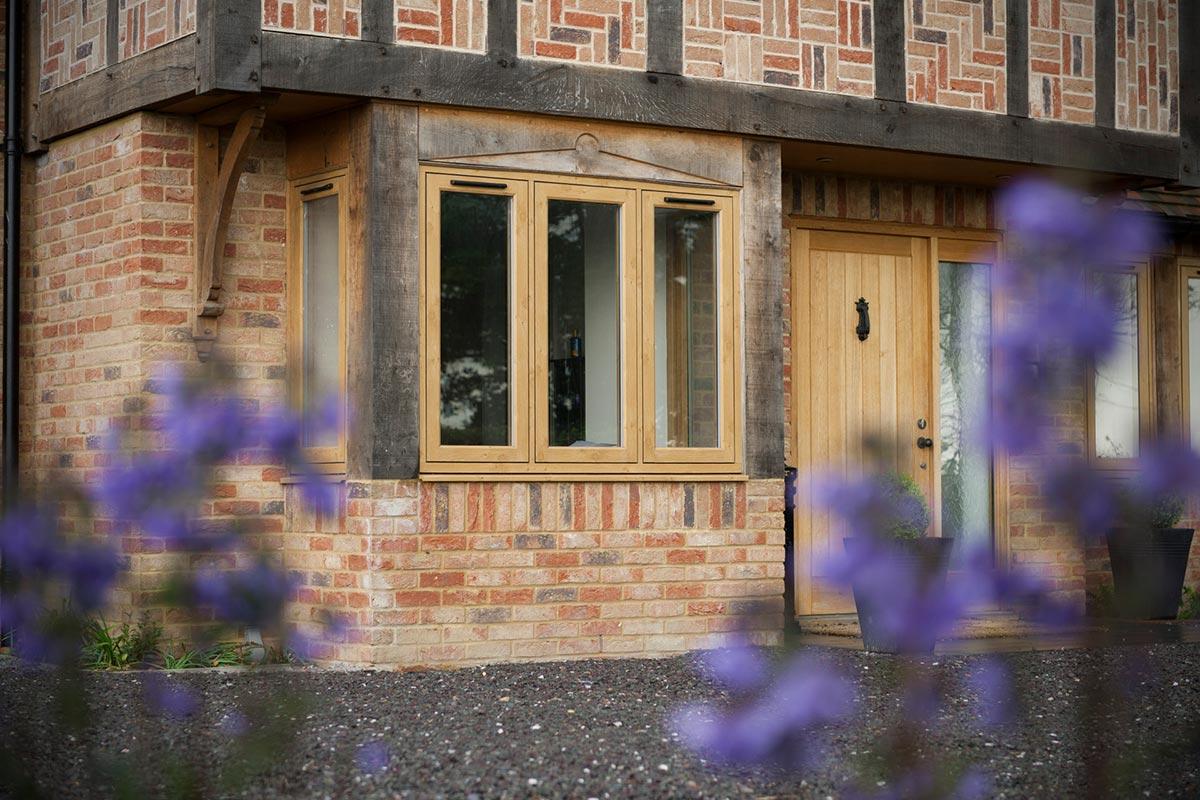 residence windows outside wood