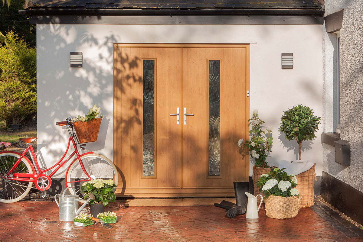 wood look double composite door Southampton
