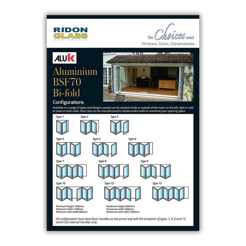 choices aluminium bi-fold Doors