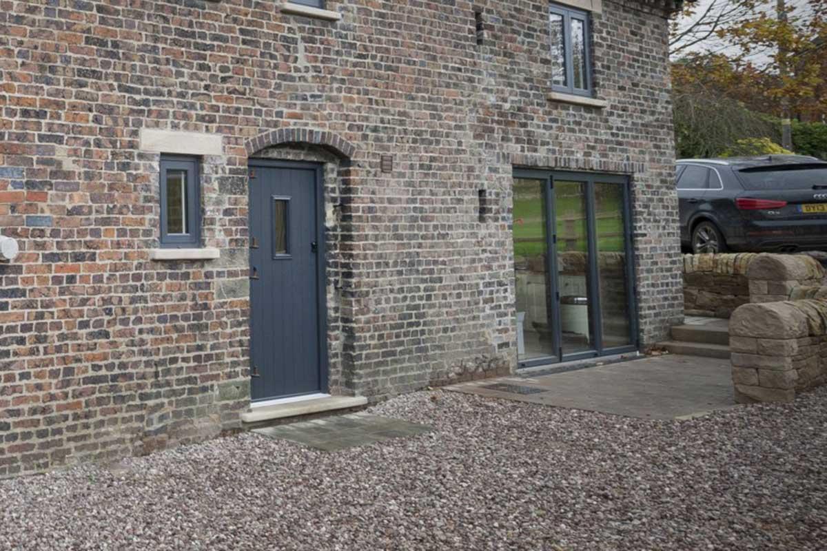 grey residence doors