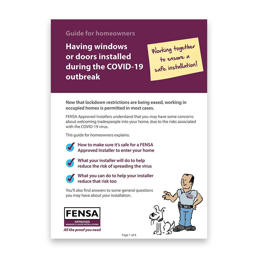 fensa homeowner guide to installations during covid-19
